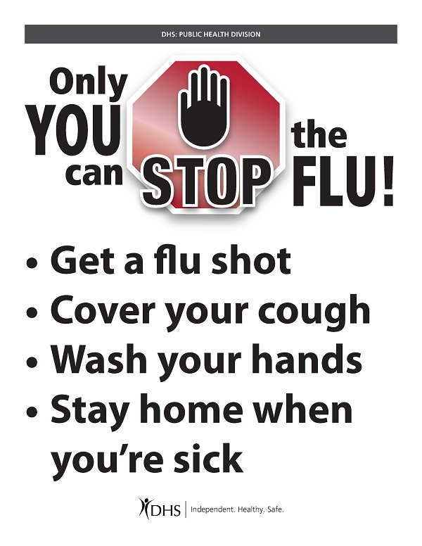 Health Services Flu Posters