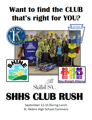Active Clubs at SHHS